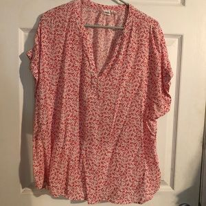 Gap red and white blouse - preworn